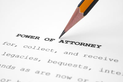 Image showing a pencil highlighting the words Powers of Attorney n York for CJS Legal Services Ltd