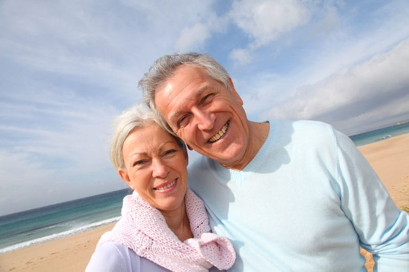 Senior couple by the beach